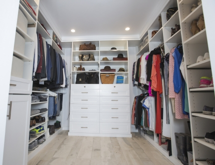 The Finished Design Of A Walk In Closet Done By Closet Factory.