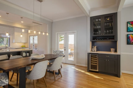 Framed Openings Are Architectural Elements That Clearly Define Spaces Which In This Case Include The Kitchen Dining Room Dry Bar And Family Areas To