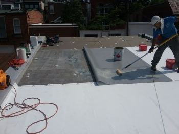 Installation Of A Modern, Single Ply, Fully Adhered Thermoplastic  Polyolefin Roof To A 115+ Year Old House. This Type Of Roof System Is Both  Strong And ...